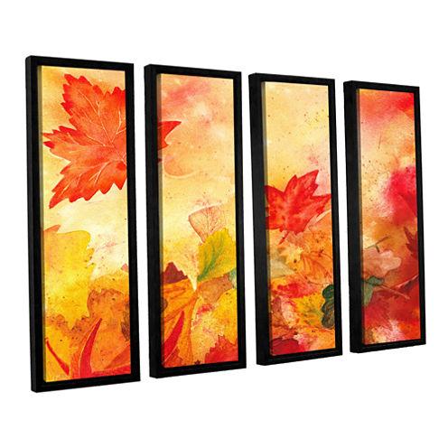 Brushstone Autumn Dance 4-pc. Floater Framed Canvas Wall Art