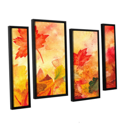 Brushstone Autumn Dance 4-pc. Floater Framed Staggered Canvas Wall Art