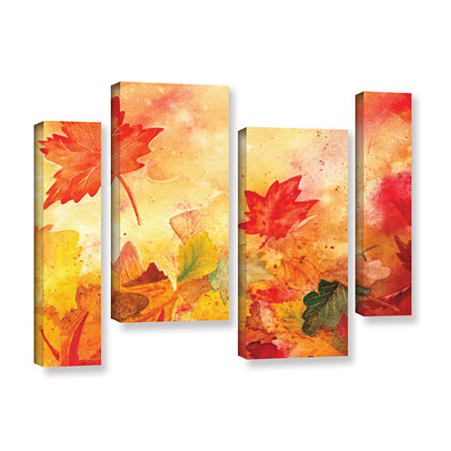 Brushstone Autumn Dance 4-pc. Gallery Wrapped Staggered Canvas Wall Art