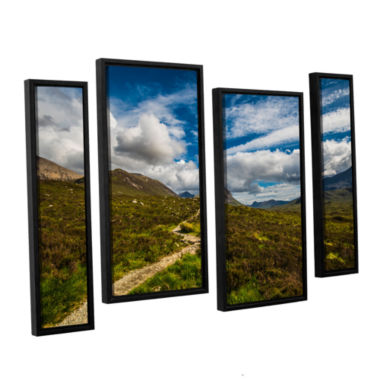 Brushstone Heart Of The Mountains 4-pc. Floater Framed Staggered Canvas Wall Art