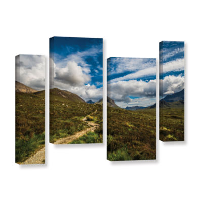 Brushstone Heart Of The Mountains 4-pc. Gallery Wrapped Staggered Canvas Wall Art