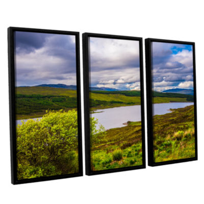 Brushstone A Highland Jewel 3-pc. Floater Framed Canvas Wall Art