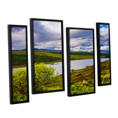 Brushstone A Highland Jewel 4-pc. Floater Framed Staggered Canvas Wall Art