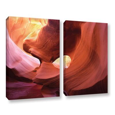 Brushstone Antelope Window 2-pc. Gallery Wrapped Canvas Wall Art