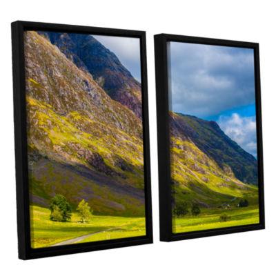 Brushstone Highland Hillside 2-pc. Floater FramedCanvas Wall Art