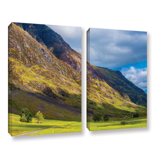 Brushstone Highland Hillside 2-pc. Gallery WrappedCanvas Wall Art