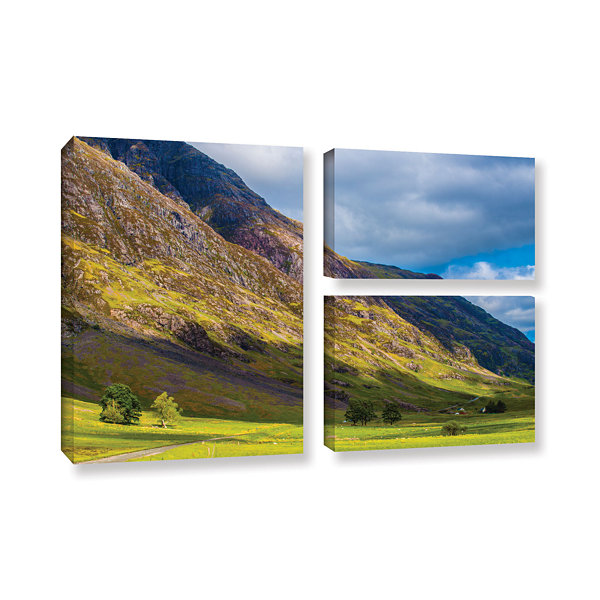 Brushstone Highland Hillside 3-pc. Flag Gallery Wrapped Canvas Wall Art