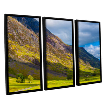Brushstone Highland Hillside 3-pc. Floater FramedCanvas Wall Art