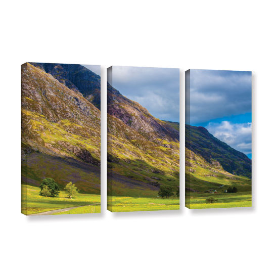 Brushstone Highland Hillside 3-pc. Gallery WrappedCanvas Wall Art