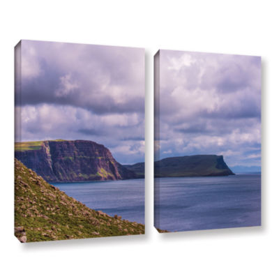 Brushstone Above The Blue 2-pc. Gallery Wrapped Canvas Wall Art