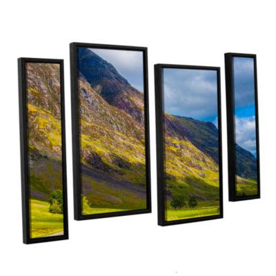 Brushstone Highland Hillside 4-pc. Floater FramedStaggered Canvas Wall Art