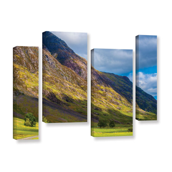 Brushstone Highland Hillside 4-pc. Gallery WrappedStaggered Canvas Wall Art