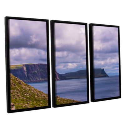 Brushstone Above The Blue 3-pc. Floater Framed Canvas Wall Art