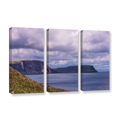 Brushstone Above The Blue 3-pc. Gallery Wrapped Canvas Wall Art