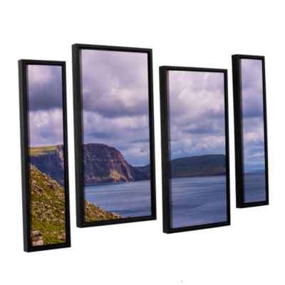 Brushstone Above The Blue 4-pc. Floater Framed Staggered Canvas Wall Art