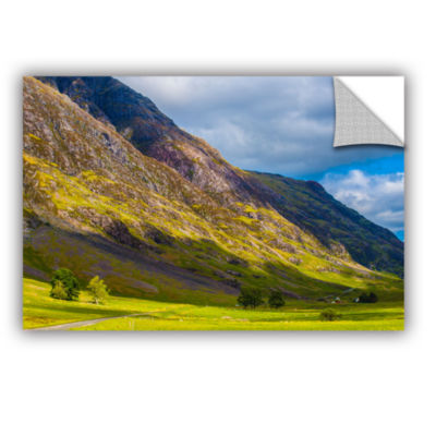Brushstone Highland Hillside Removable Wall Decal