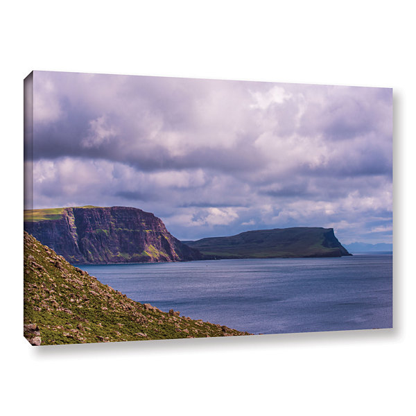 Brushstone Above The Blue Gallery Wrapped Canvas Wall Art