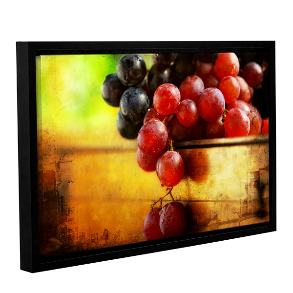 Brushstone Autumn Grapes Gallery Wrapped Framed Canvas Wall Art