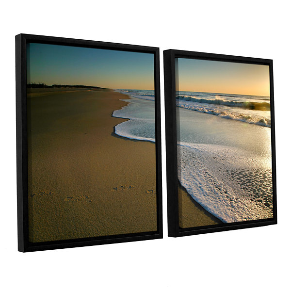 Brushstone Surf and Sand 2-pc. Floater Framed Canvas Wall Art