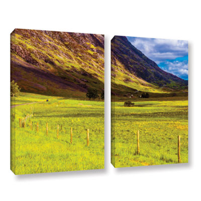 Brushstone Highland Way I 2-pc. Gallery Wrapped Canvas Wall Art