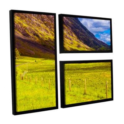 Brushstone Highland Way I 3-pc. Flag Floater Framed Canvas Wall Art
