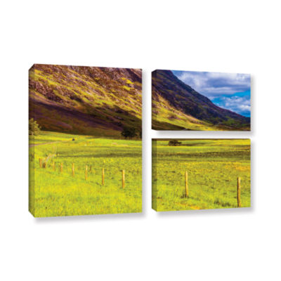 Brushstone Highland Way I 3-pc. Flag Gallery Wrapped Canvas Wall Art
