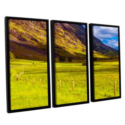 Brushstone Highland Way I 3-pc. Floater Framed Canvas Wall Art