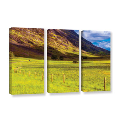Brushstone Highland Way I 3-pc. Gallery Wrapped Canvas Wall Art