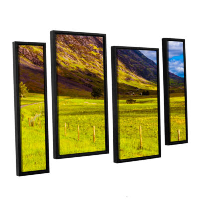 Brushstone Highland Way I 4-pc. Floater Framed Staggered Canvas Wall Art