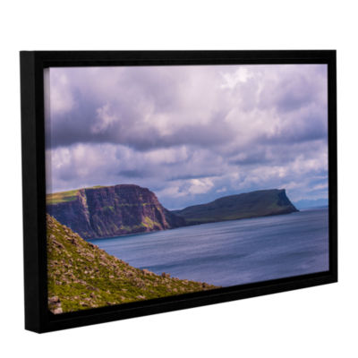 Brushstone Above The Blue Gallery Wrapped Floater-Framed Canvas Wall Art