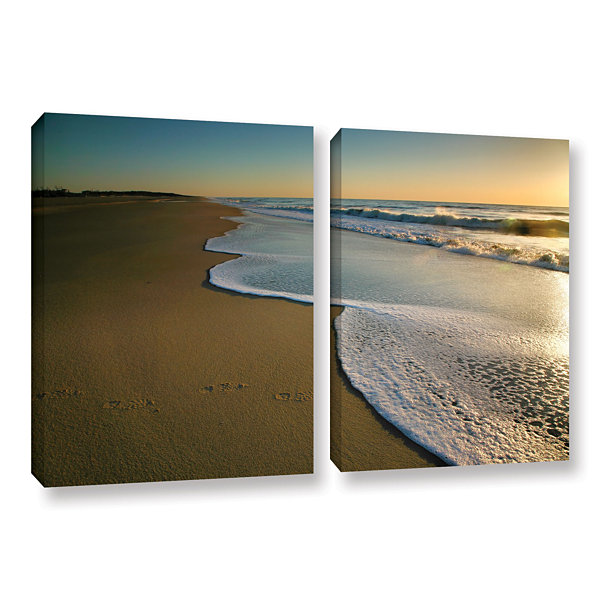 Brushstone Surf and Sand 2-pc. Gallery Wrapped Canvas Wall Art