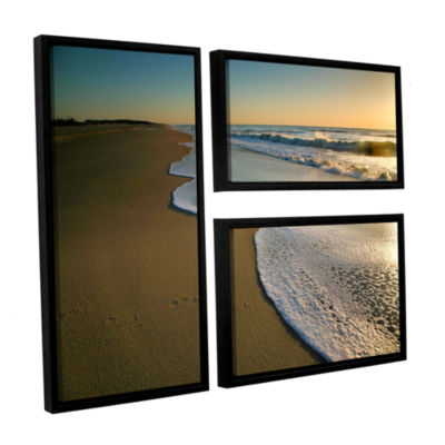 Brushstone Surf and Sand 3-pc. Flag Floater FramedCanvas Wall Art