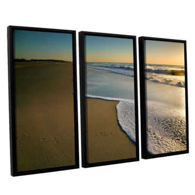 Brushstone Surf and Sand 3-pc. Floater Framed Canvas Wall Art