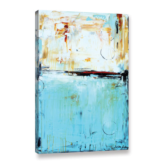 Brushstone Abstract in Blue Gallery Wrapped CanvasWall Art