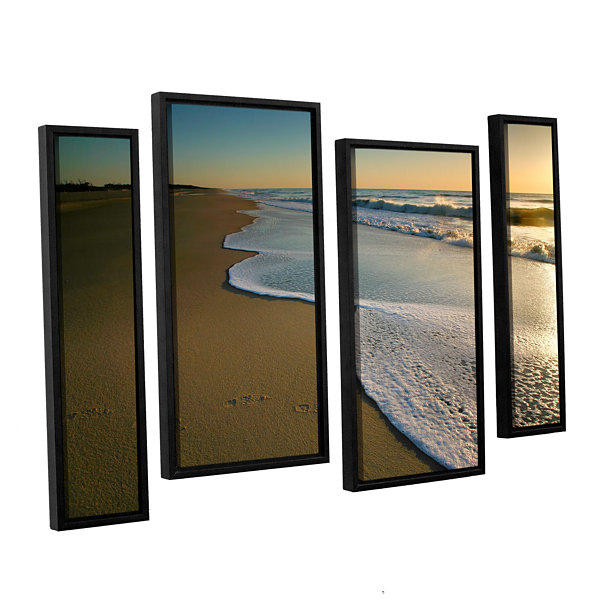 Brushstone Surf and Sand 4-pc. Floater Framed Staggered Canvas Wall Art