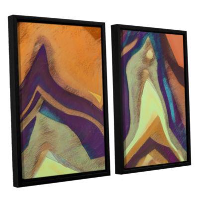 Brushstone Arrt Attack 2-pc. Framed Canvas Wall Art