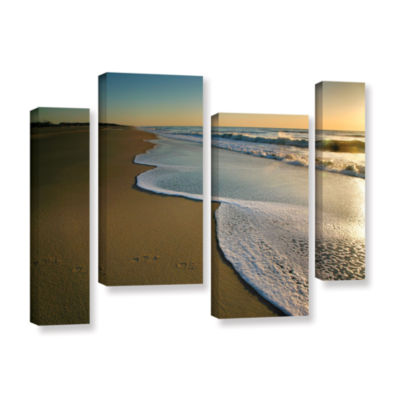 Brushstone Surf and Sand 4-pc. Gallery Wrapped Staggered Canvas Wall Art