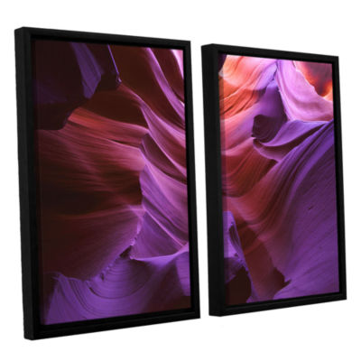 Brushstone Ancient Canyon 2-pc. Floater Framed Canvas Wall Art