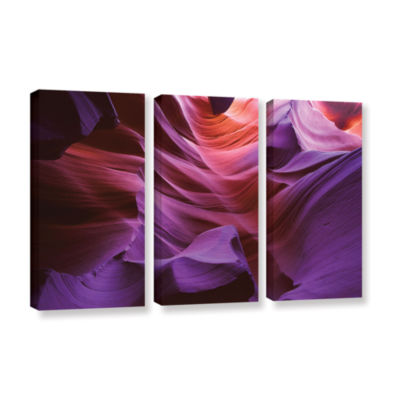 Brushstone Ancient Canyon 3-pc. Gallery Wrapped Canvas Wall Art