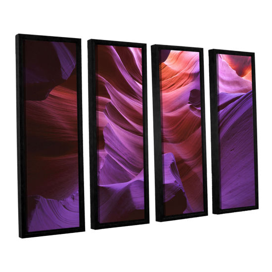 Brushstone Ancient Canyon 4-pc. Framed Canvas WallArt