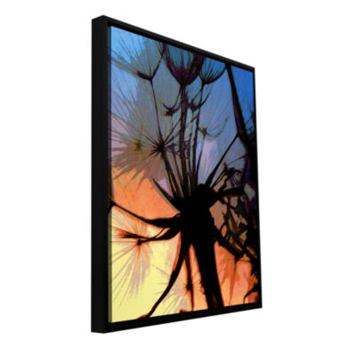 Brushstone Autumn Hues Gallery Wrapped Framed Canvas Wall Art