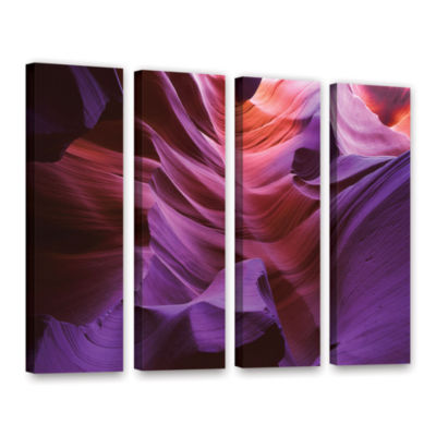 Brushstone Ancient Canyon 4-pc. Gallery Wrapped Canvas Wall Art