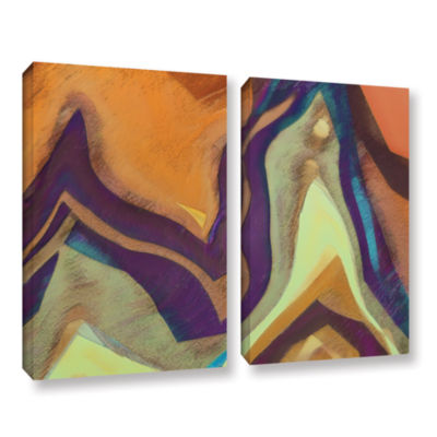 Brushstone Arrt Attack 2-pc. Gallery Wrapped Canvas Wall Art