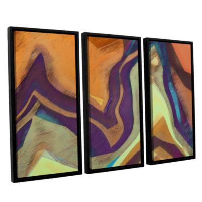 Brushstone Arrt Attack 3-pc. Framed Canvas Wall Art