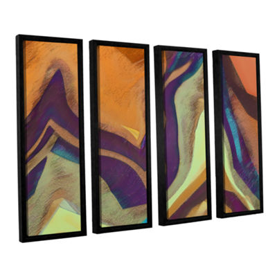 Brushstone Arrt Attack 4-pc. Framed Canvas Wall Art