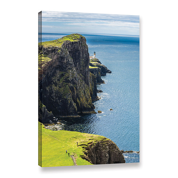 Brushstone Niest Point Lighthouse I Gallery Wrapped Canvas Wall Art
