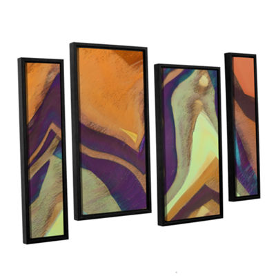 Brushstone Arrt Attack 4-pc. Framed Staggered Canvas Wall Art