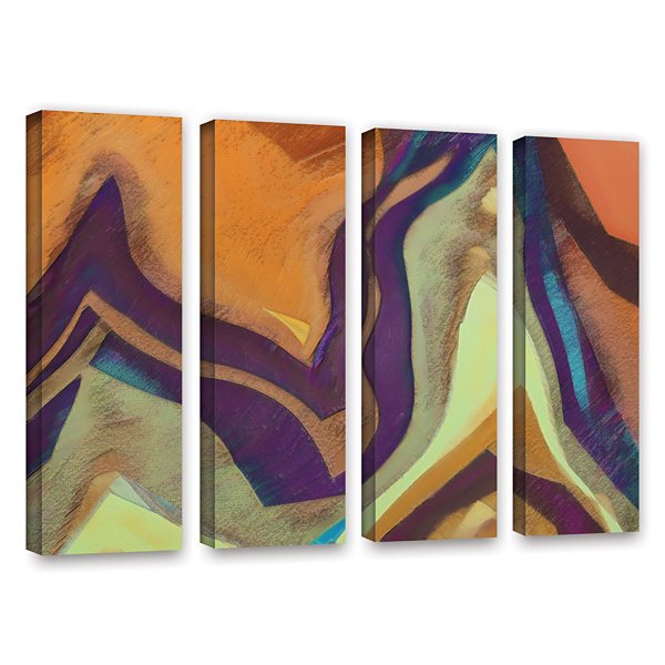 Brushstone Arrt Attack 4-pc. Gallery Wrapped Canvas Wall Art
