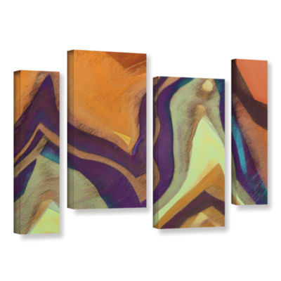 Brushstone Arrt Attack 4-pc. Gallery Wrapped Staggered Canvas Wall Art
