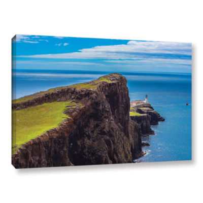 Brushstone Niest Point Lighthouse II Gallery Wrapped Canvas Wall Art